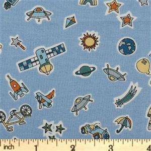 Liberty Adventures In The Sky in Treasures in the Sky Fabric 0.5m