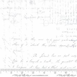 Moda Script Background White Extra Wide Backing Fabrc 0.5m (274cm)