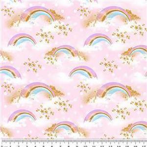 Rainbow Unicorns Girls Lounge Set Fabric Bundle (3m)