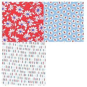 Moda Back Porch White Daisies FQ Pack - 3 Pieces