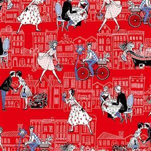 Joie De Vivre Date Night Red Fabric 0.5m