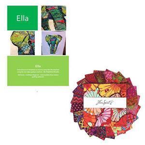 Delphine Brooks' Kaffe Ella Elephant Wall Hanging Bundle: Instructions & Charm Pack