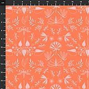 Aerial Wingspan On  Orange Fabric 0.5m