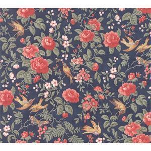 Moda Daybreak Aviary Evening on Navy Fabric 0.5m