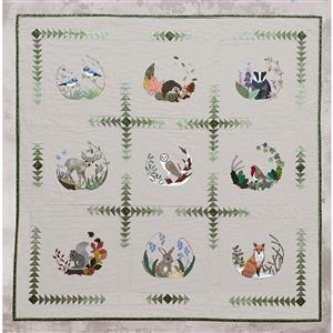 Victoria Carrington's Woodland Applique Quilt Finishing Kit: Panels & Instructions