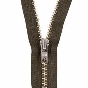 Zip, Closed End, Silver Metal 10cm