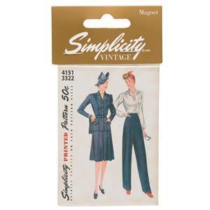 Simplicity Vintage Magnet 4151/3322 Pattern