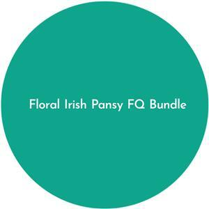 Floral Irish Pansy FQ Bundle: 12 pieces