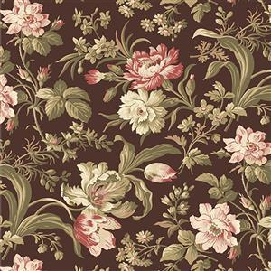 Wildflower Woods in Brown Floral Fabric 0.5m