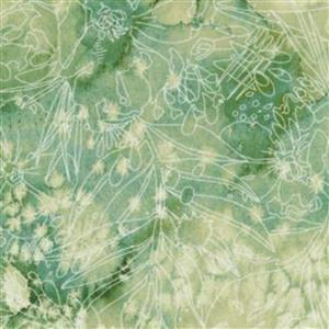 Moda Moody Bloom Light Green Fabric 0.5m