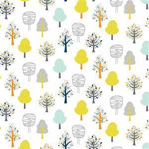 Woodland Friends Trees Fabric 0.5m