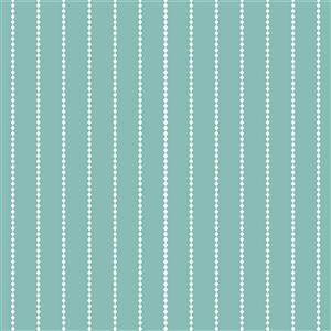 Riley Blake Poppy & Posey Seaglass Stripey Fabric 0.5m
