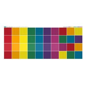 Rainbow Squares Fabric Panel: 140cm x 56cm.  Exclusive