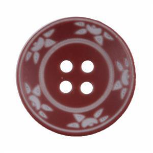 Milward Pack of 2 Brown & White 25mm Buttons