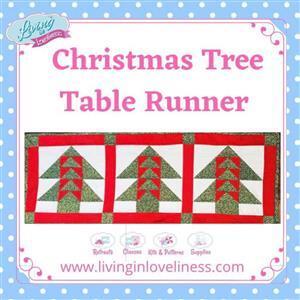 Living in Loveliness Christmas Table Runner Pattern