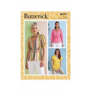 Butterick Misses' V-Neck Top Pattern: Size 14-22