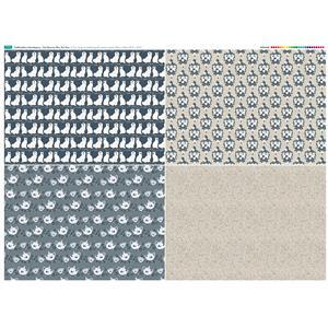 Staffordshire Mantelpiece Fat Quarter Set 1: 140cm x 107cm