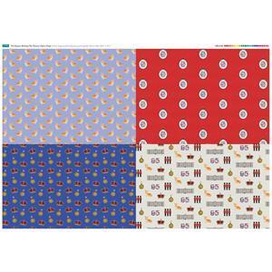 Queens Birthday Fat Quarter Fabric Panel (140 x 107cm)