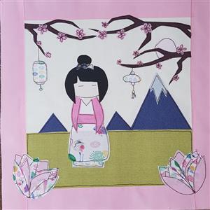 Helen Newton's Japanese Girl Cushion Instructions