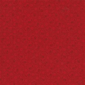 Moda Roselyn in Deep Red Paisley Fabric 0.5m