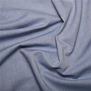 Blue Cotton Chambray Fabric 0.5m