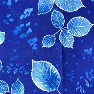 Lapis Leaves 1 Blue Fabric 0.5m