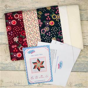 Living in Loveliness Star Centre Piece Kit, Fabric & Pattern - Floral