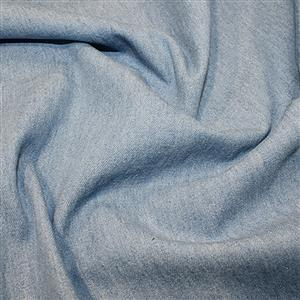 8oz Medium/Heavy Weight Washed Denim Cotton - Light Blue 0.5m