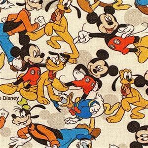 Disney Mickey Mouse Club Fabric 0.5m