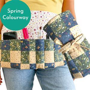 The Crafty Co's Spring Apron Tool Roll Kit: Instructions & Fabric Panel