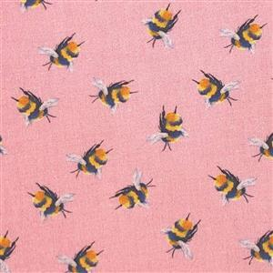 Bumblebee Candy Pink Fabric 0.5m