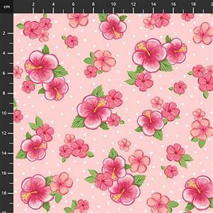 Let's Flamingle Floral Pink Fabric 0.5m