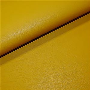 Early Bird Special - 50% Viscose 50% PU Leather Fabric In Mustard. 0.5m. Save £1