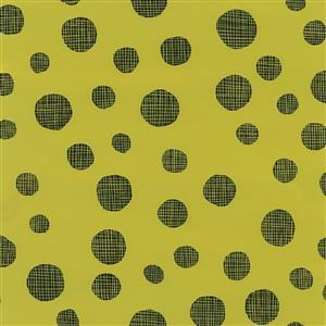 Summer Daze Green Polka Dots Fabric 0.5m