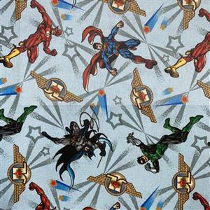 Justice League 2 Super Heroes Fabric 0.5m