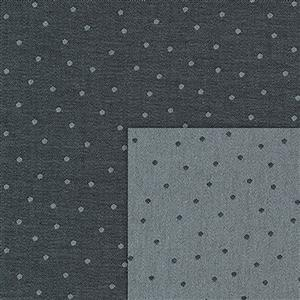 Stof Sevilla Jacquard Small Dots Coal-Grey Fabric 0.5m
