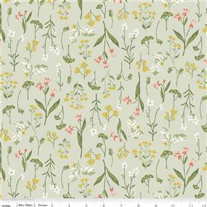 Riley Blake Tea With Bea Sand Dollar Autumn Garden Fabric 0.5m