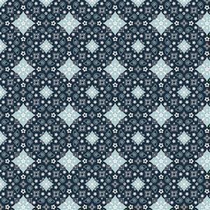 Poppie Cotton Farmgirls Unite Bandanas Forever On Blue Fabric 0.5m