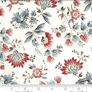 Moda Regency Zarafa in Floral Red 0.5m