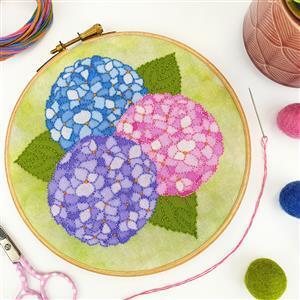 Oh Sew Bootiful Hydrangea Embroidery Kit