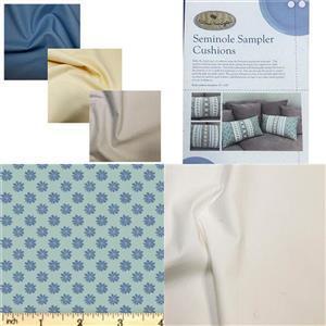 Victoria Carrington's Liberty Blue Seminole Cushion Duo Kit, Instructions, Fabric (1.5m) & 3 FQs
