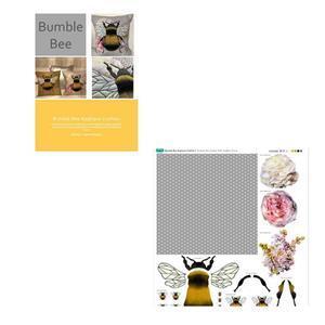 Delphine Brooks' Grey Bee Cushion Kit: Instructions & Fabric Panel