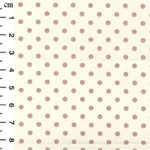Tan Cotton Poplin Spots on Cream Fabric 0.5m