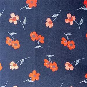 Laura Ashley Oxford Collection Story Time Floral in Black Fabric 0.5m