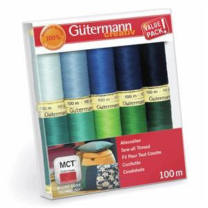 Gutermann Sew-All Thread Set Assorted Colours Pack2 10 x 100m