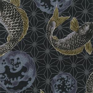 Umi in Black Karp Fabric 0.5m