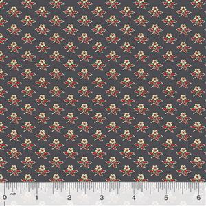 Kingston Bud on Navy Fabric 0.5m
