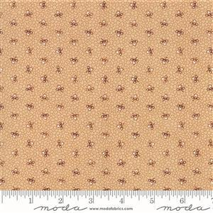 Moda Lancaster in Light Tan Floral Spotted Fabric 0.5m
