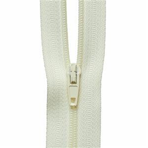 Cream Nylon Zip: 1m