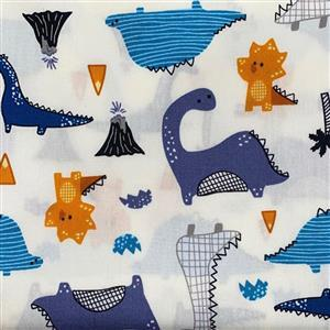 Dinosaurs on Ivory Fabric 0.5m